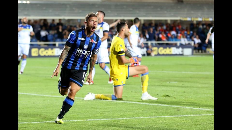 Papu Gomez esulta dopo il gol ©Mauro Locatelli/LaPresse