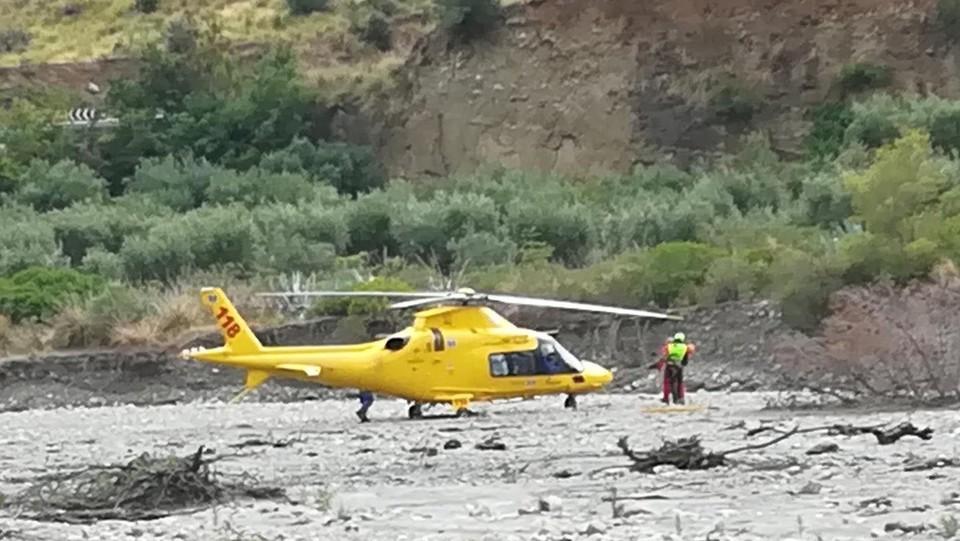 L'elicottero del soccorso alpino ©Ufficio Stampa Protezione Civile/LaPresse