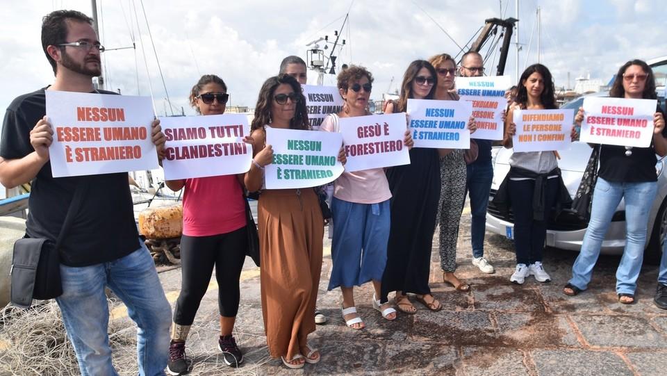 La manifestazione nel porto di Catania ©Andrea Di Grazia/Lapresse