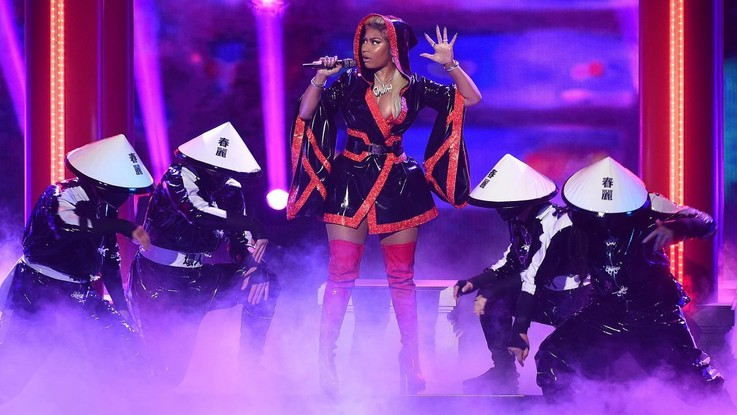 Sul palco dei VMAs Nicki Minaj, Scott Travis e Post Malone