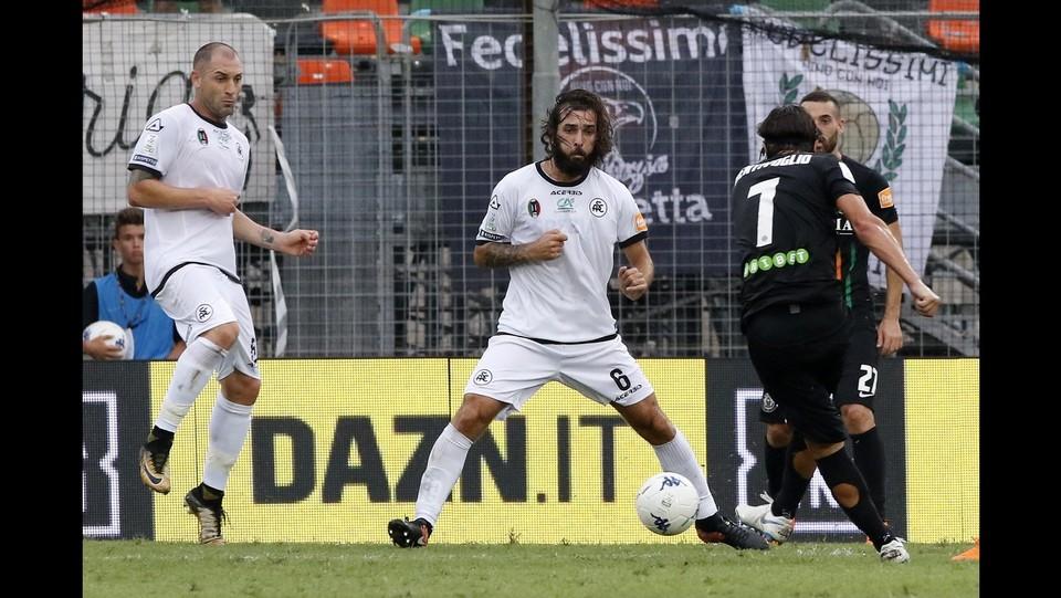 Venezia  vs Spezia 1-0 - Il gol di Bentivoglio ©Paola Garbuio/LaPresse