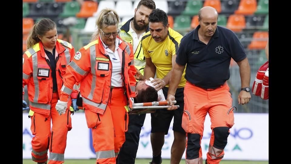 Venezia  vs Spezia 1-0 - Bruscagin infortunato ©Paola Garbuio/LaPresse