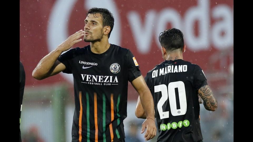 Venezia  vs Spezia 1-0 - L'esultanza di Andelkovic a fine gara ©Paola Garbuio/LaPresse