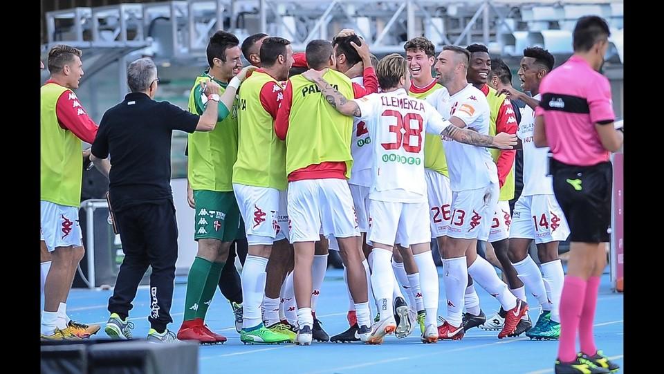 Verona-Padova 1-1 - Padova in festa dopo il gol di Ravanelli ©Claudio Martinelli/LaPresse