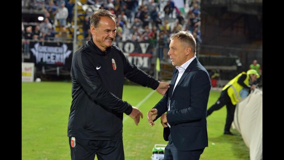Verona-Padova 1-1 - Gli allenatori: Braglia (Cosenzai) e Vivarini (Ascoli) ©Simone Fanini/LaPresse