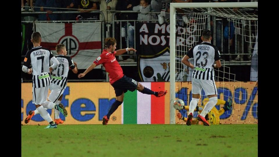 Verona-Padova 1-1 - Il gol del Padova segnato da Maniero ©Simone Fanini/LaPresse