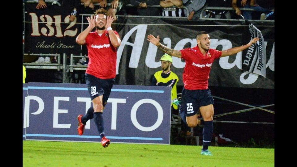 Verona-Padova 1-1 - L'esultanza di Maniero ©Simone Fanini/LaPresse