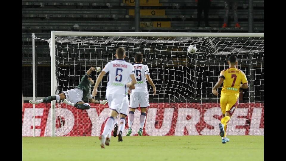 Cittadella-Crotone 3-0 - Il gol di Scappini dell'1-0 ©Paola Garbuio/LaPresse