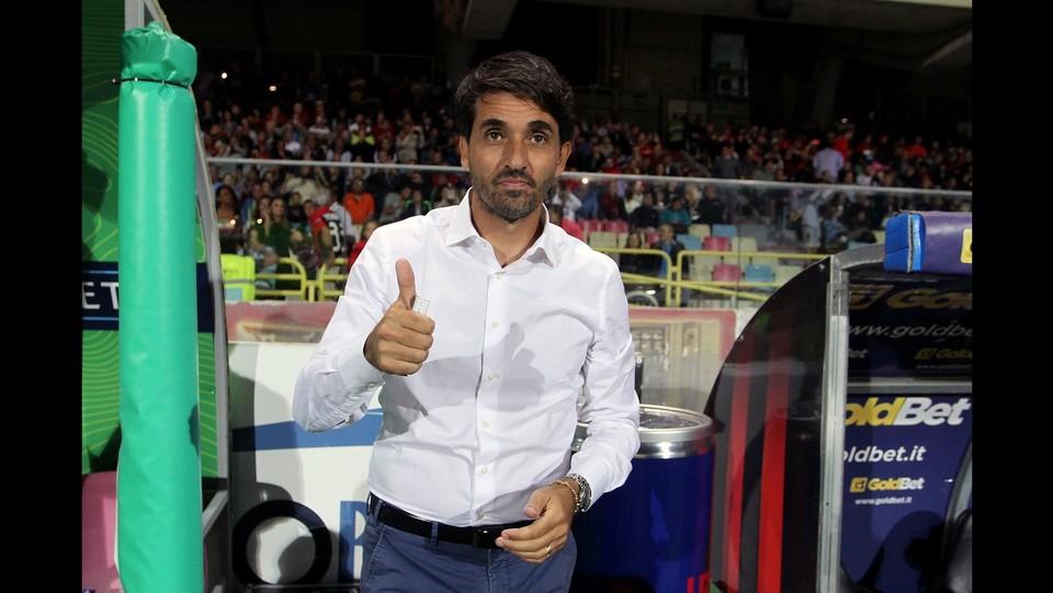 Foggia-Carpi 4-2 - L'allenatore del Foggia Gianluca Grassadonia ©Donato Fasano/Lapresse