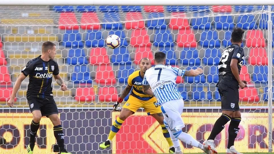 Vince la Spal grazie al gol di Antenucci ©Massimo Paolone/LaPresse