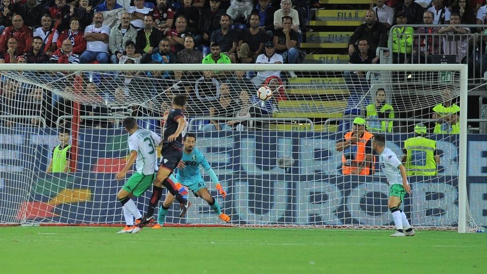 Il secondo gol di Pavoletti ©Alessandro Tocco/LaPresse