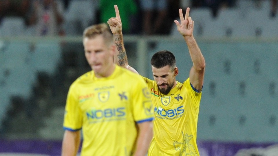 Tomovic esulta dopo il gol ©Jennifer Lorenzini/LaPresse