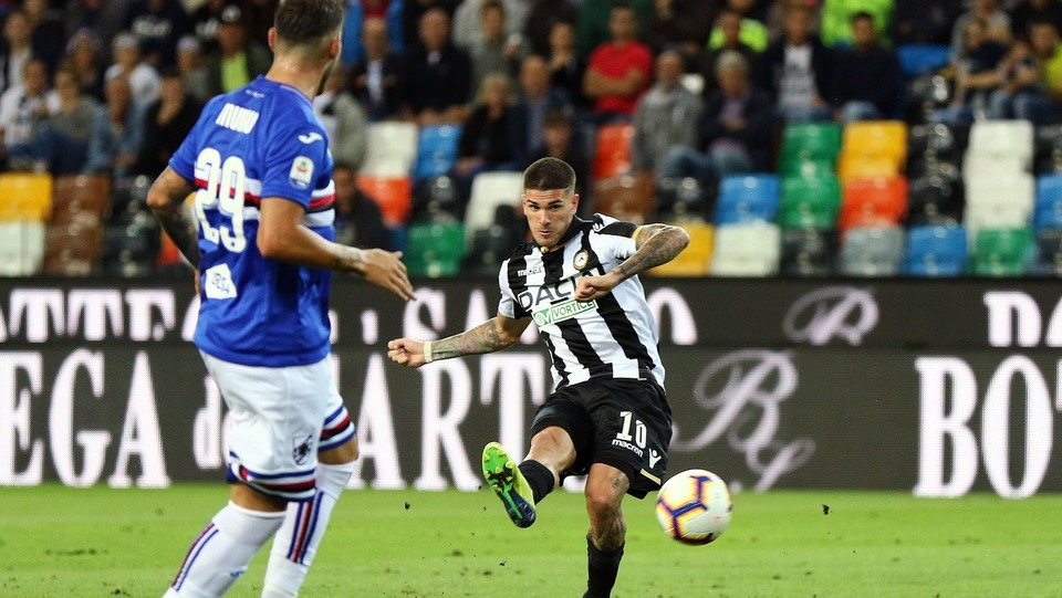 Il bel gol di De Paul ©Andrea Bressanutti/LaPresse
