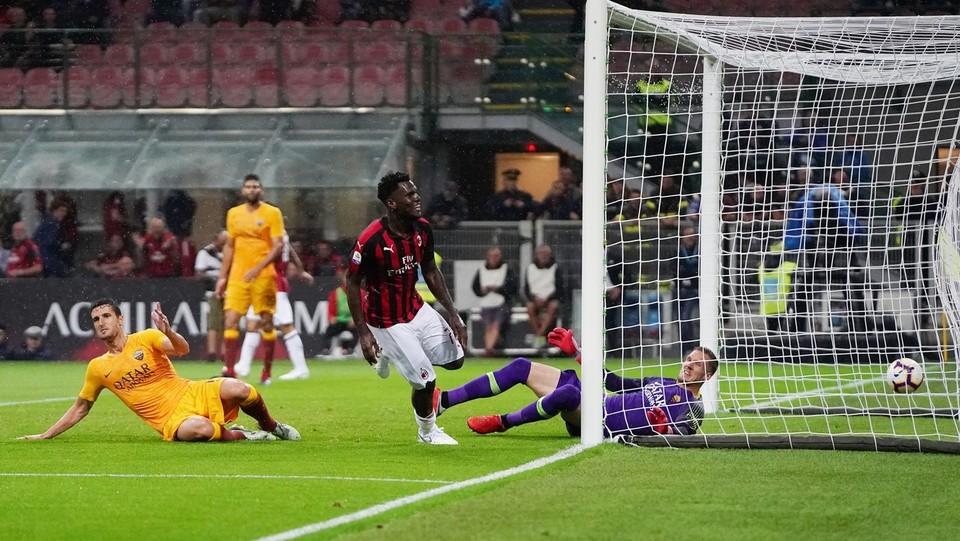 Il gol di Kessie su cross di Rodriguez ©Spada/LaPresse