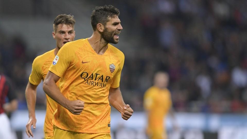 Fazio giopisce dopo il gol ©Luciano Rossi/AS Roma/LaPresse