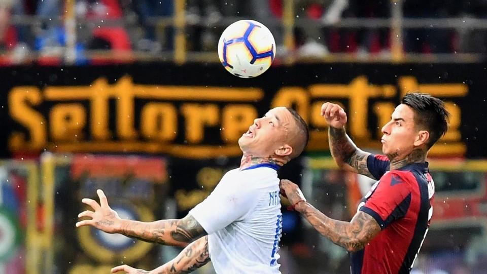67' Nainggolan porta l'Inter in vantaggio ©AFP/LaPresse