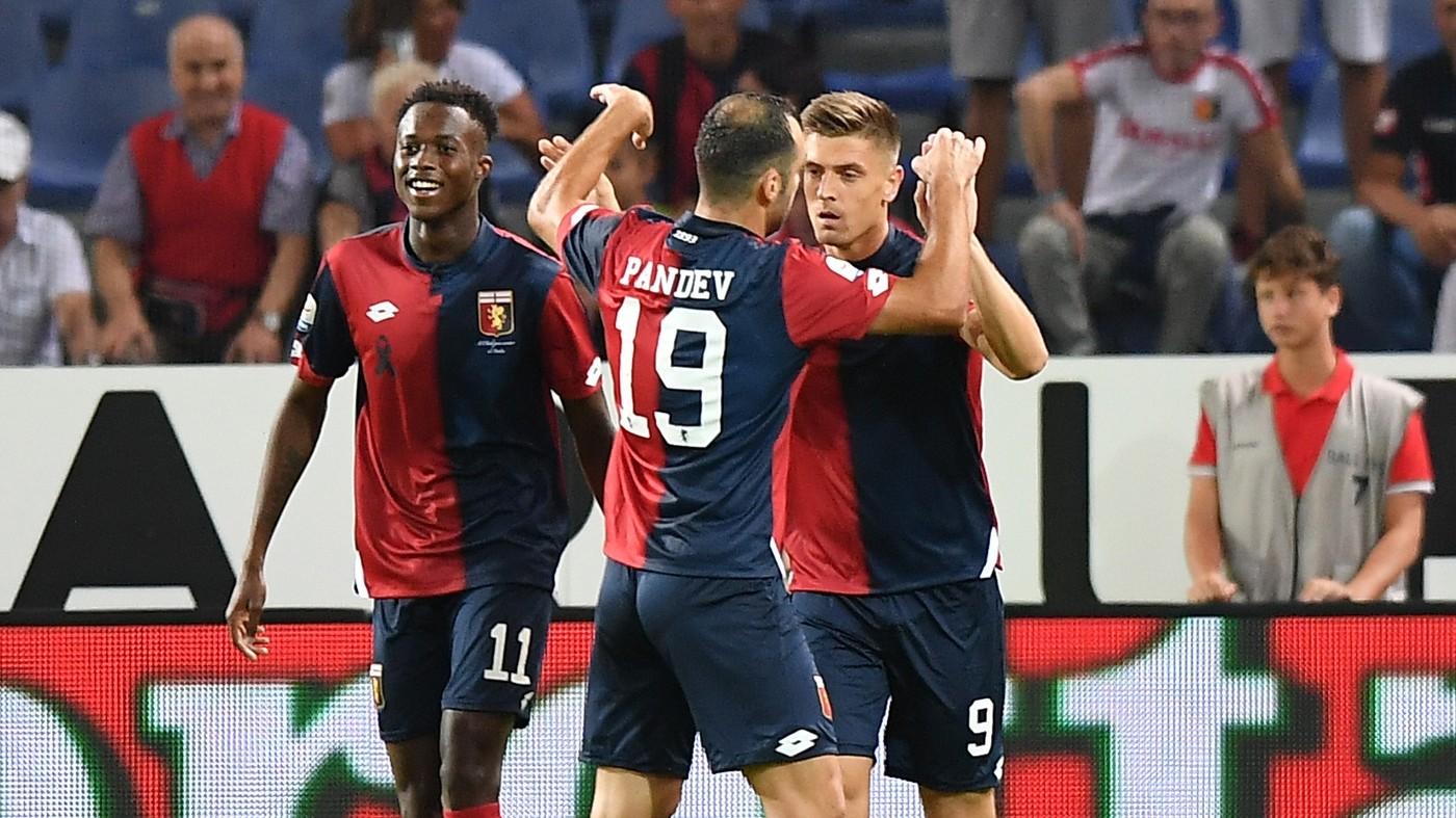 Pjatek-Kouamé, coppia gol. Il Genoa supera l'Empoli: 2-1