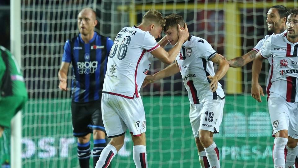 Barella esulta per il gol ©Mauro Locatelli/LaPresse