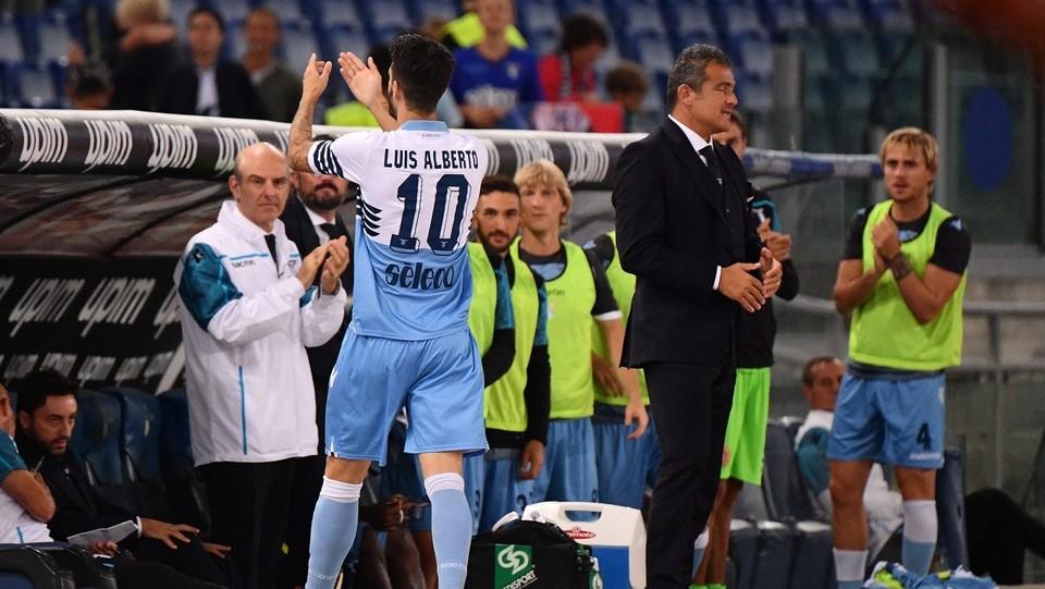 49' Luis Alberto smuove la partita e segna. Lazio in vantaggio 1-0 ©Alfredo Falcone/LaPresse