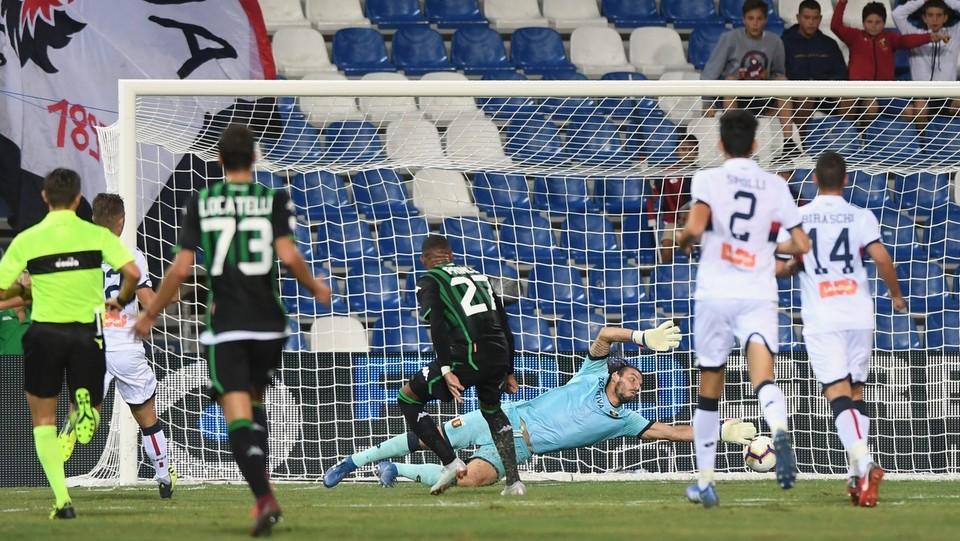 34' Boateng gol! Palla all'angolo basso di destra e il Sassuolo pareggia 1-1 ©Massimo Paolone/LaPresse