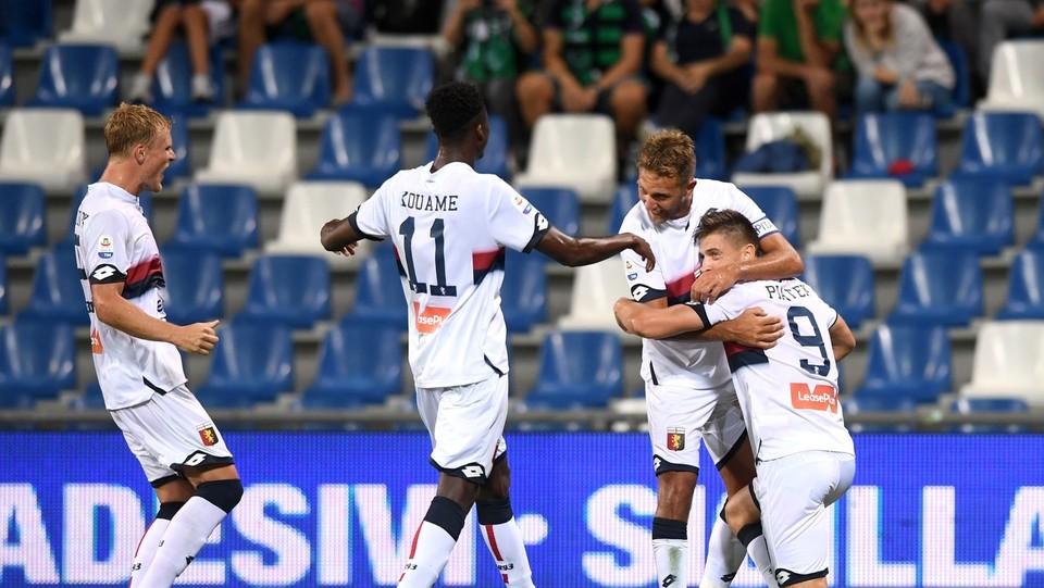 Piatek esulta dopo aver realizzato il gol 0-1 ©Massimo Paolone/LaPresse