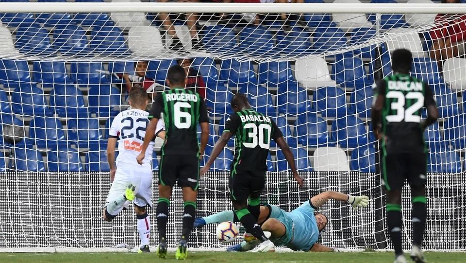41' Babacar batte il portiere! Sassuolo 3-1 ©Massimo Paolone/LaPresse