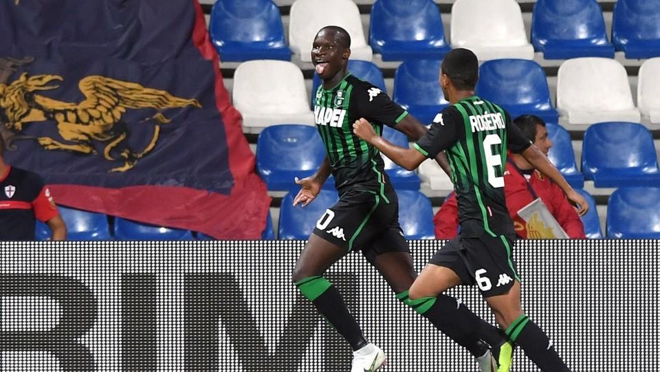 Babacar esulta dopo aver realizzato il gol 3-1 ©Massimo Paolone/LaPresse