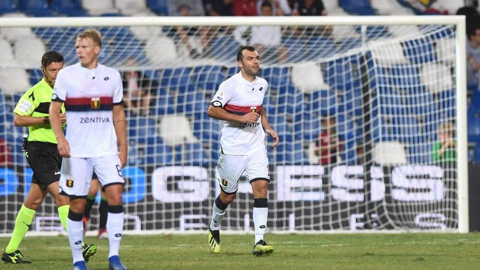 Pandev dopo il gol del 5-2 ©Massimo Paolone/LaPresse