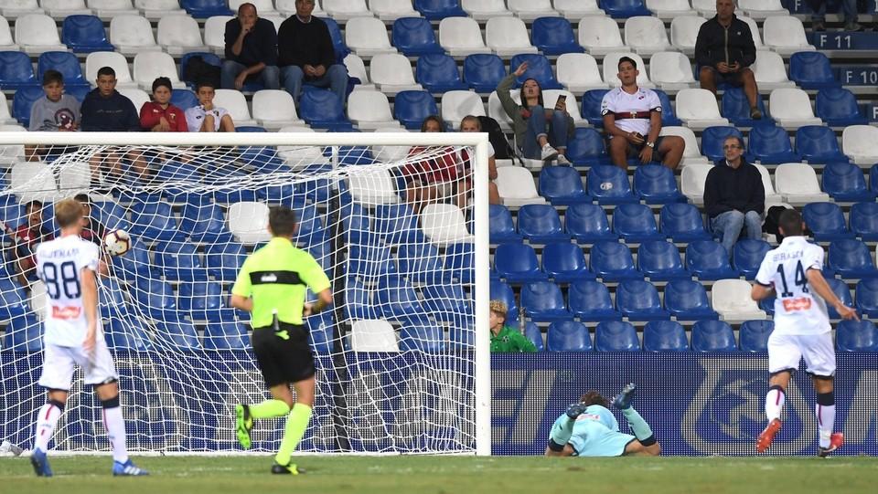 Ancora il gol di Piatek per il 5-3 ©Massimo Paolone/LaPresse