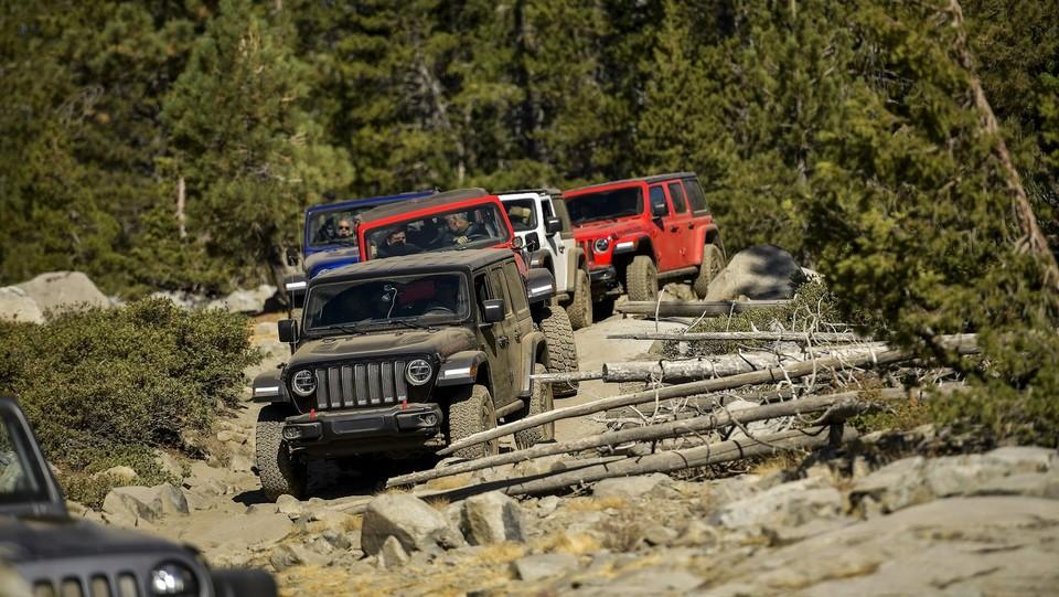Road test Jeep Wrangler Rubicon sul Rubicon Trail in California ©Marco Alpozzi/LaPresse