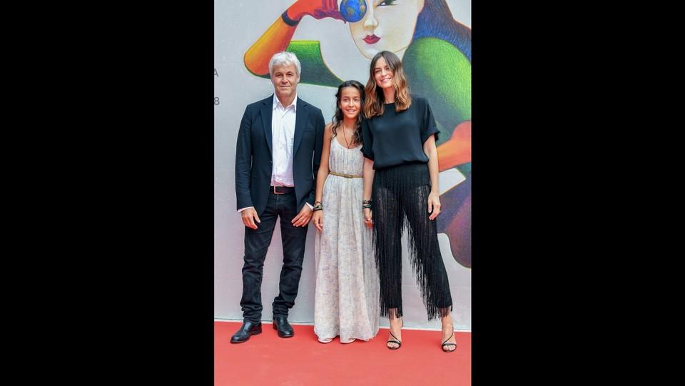 Kasia Smutniak, sua figlia Sophie Taricone e suo marito Domenico Procacci ©Gian Mattia D'Alberto / LaPresse