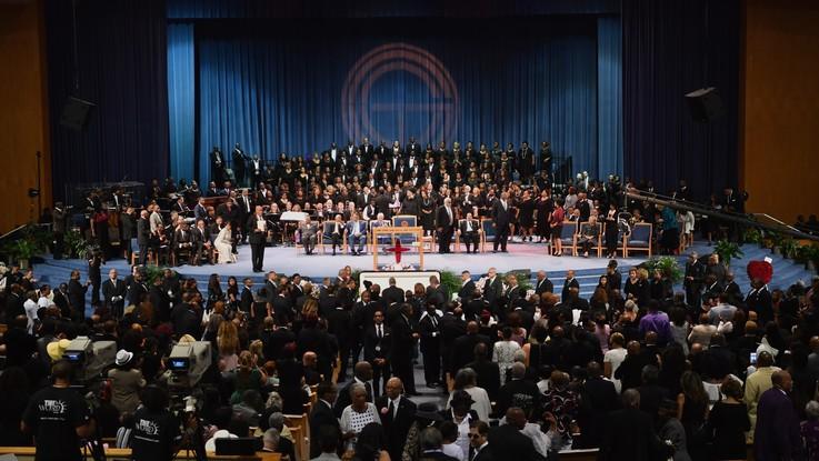 Aretha Franklin, funerale show per l'addio alla regina del soul
