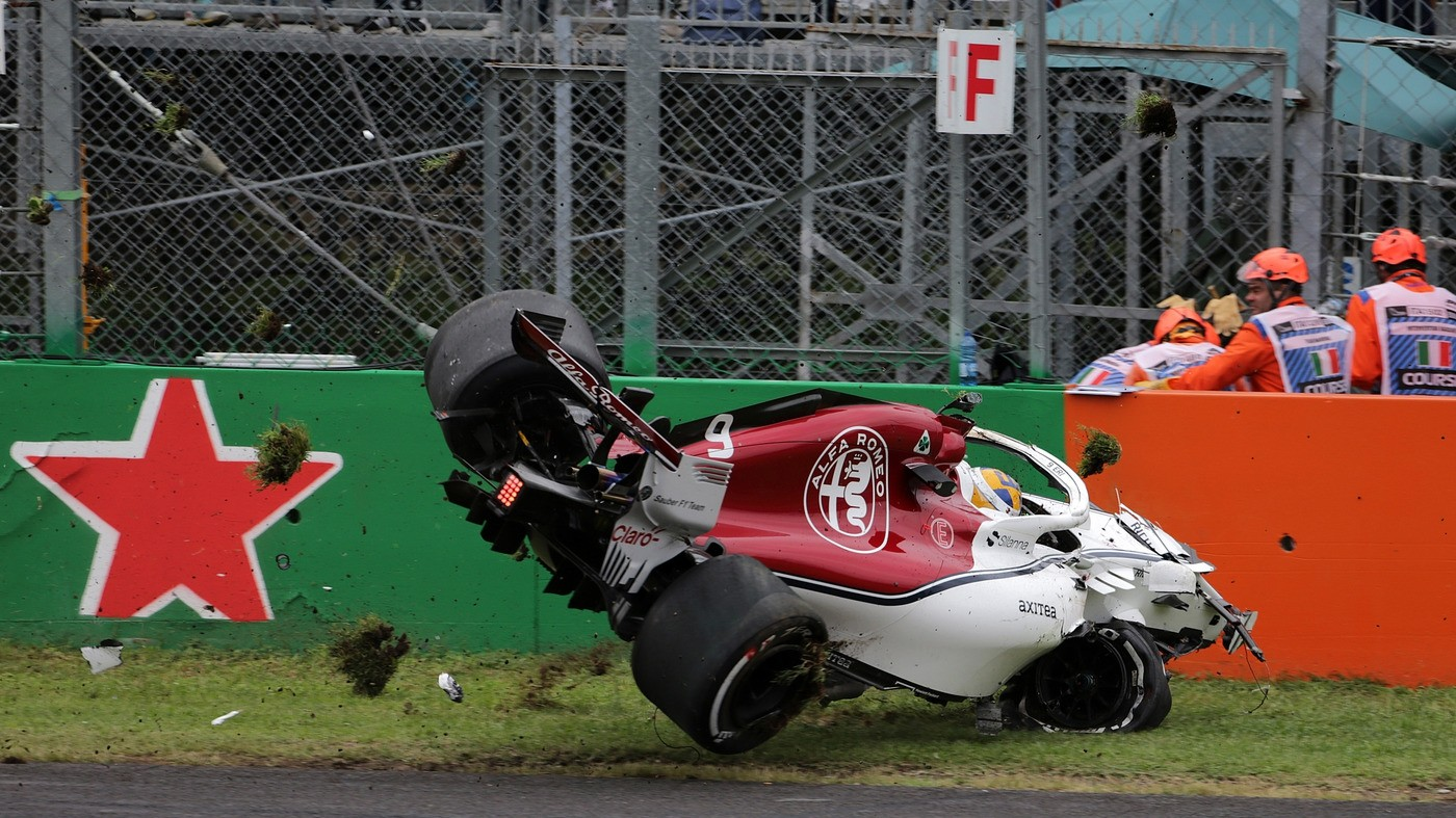 F1, Ferrari veloce nelle libere di Monza. Paura per Ericsson che vola senza danni