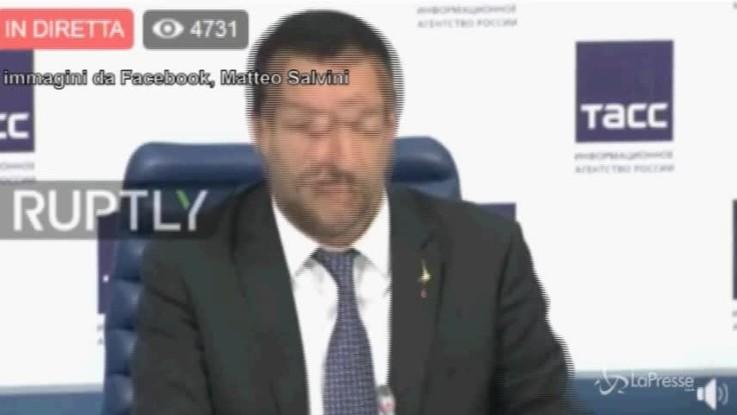 """Salvini in Russia: """"Non dite che metto veti se no Boeri si arrabbia"""""""