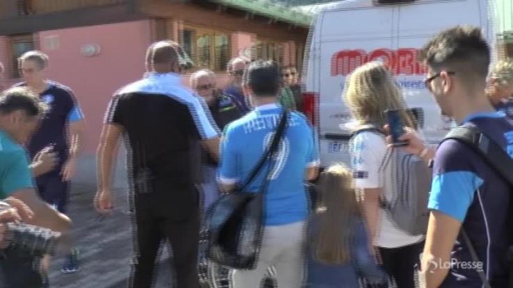 Napoli, De Laurentiis si concede ai tifosi a Dimaro