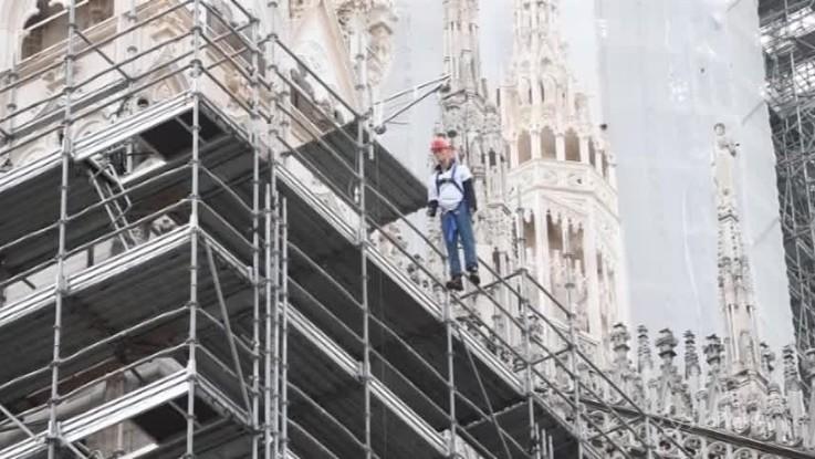 Milano contro le morti sul lavoro, il presidio in Piazza del Duomo