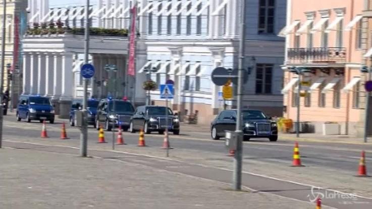 Vertice Helsinki, l'arrivo di Trump e Putin al palazzo presidenziale