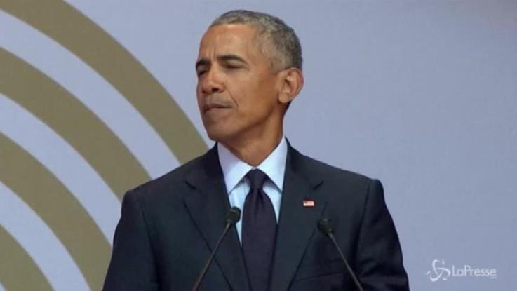 """Obama alla commemorazione di Madela: """"Mai visti tempi incerti come questi"""""""