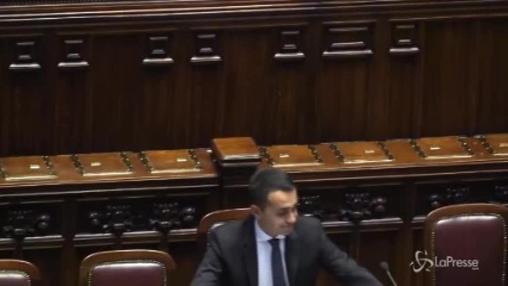 Di Maio parla alla Camera, ma l'Aula è deserta