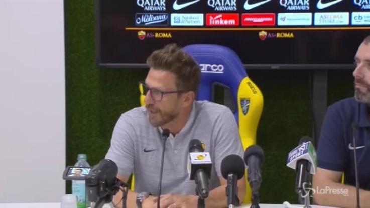 """Roma-Avellino, Di Francesco: """"Campo indecente, l'importante era non farsi male"""""""