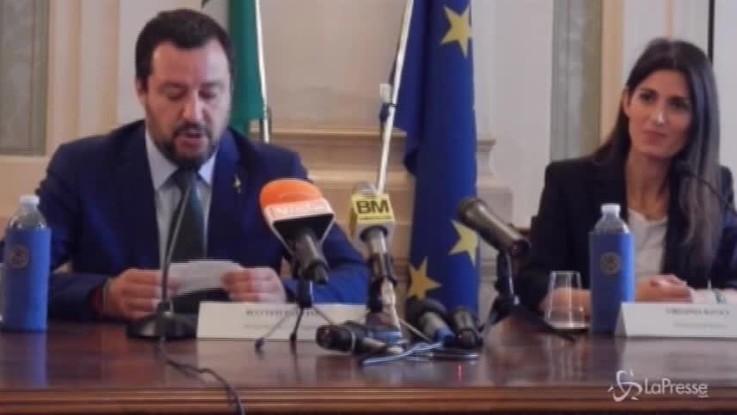 """Salvini: """"Ho incontrato prima Raggi di Sala, sarò rimproverato"""""""
