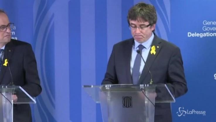 "Catalogna, Puigdemont a Bruxelles: ""Continuerò a viaggiare per la nostra causa"""
