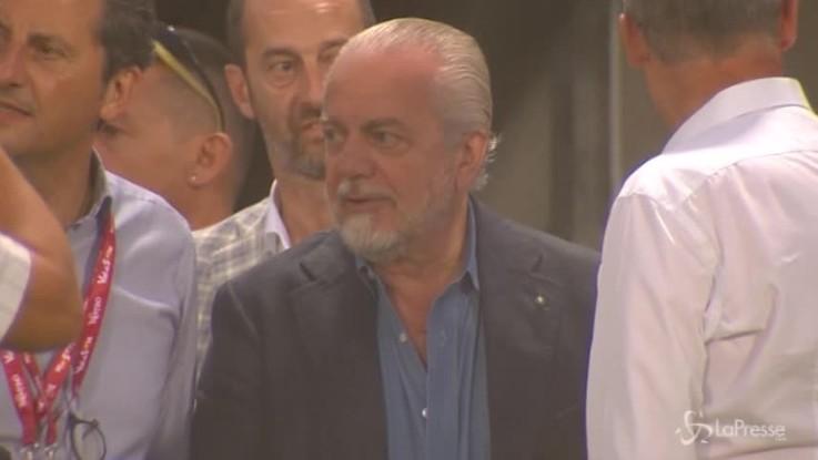 """Bari, De Laurentiis: """"Mio figlio sarà presidente"""""""