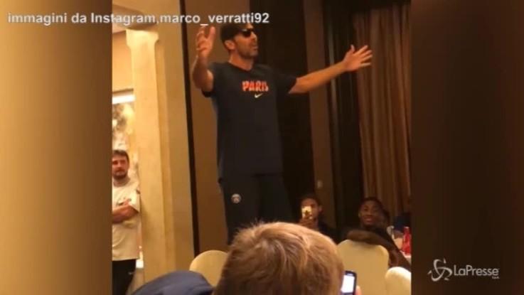 La 'Vita spericolata' di Buffon stupisce i giocatori del Psg