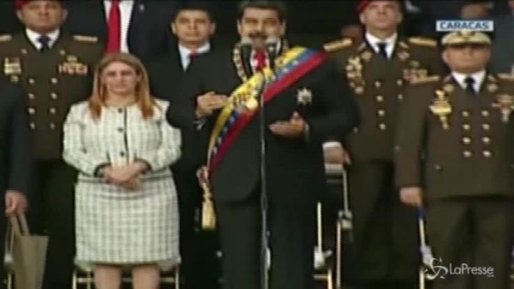 Attentato in Venezuela, il momento dell'esplosione