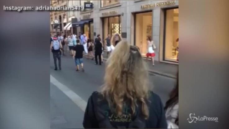 Cristiano Ronaldo a Milano con la fidanzata: shopping con Georgina