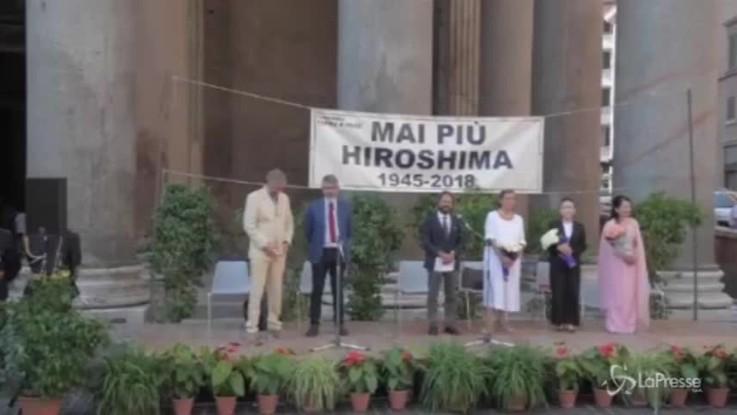 Hiroshima, la commemorazione a Roma 73 anni dopo la strage atomica