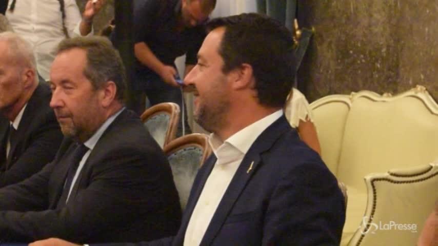 """Salvini a Foggia: """"Vogliamo svuotare il ghetto di Borgo Mezzanone"""""""