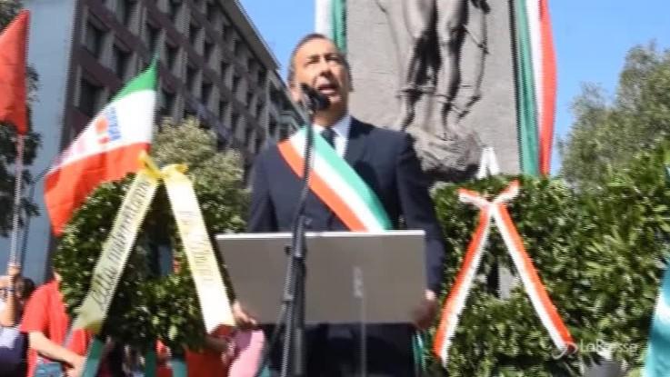 """Martiri di Piazzale Loreto, Sala: """"Onoro la mia famiglia che mi ha cresciuto nell'antifascismo"""""""
