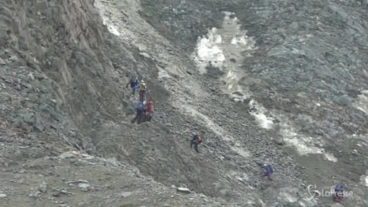 Monte Bianco, ritrovati i corpi dei tre italiani dispersi